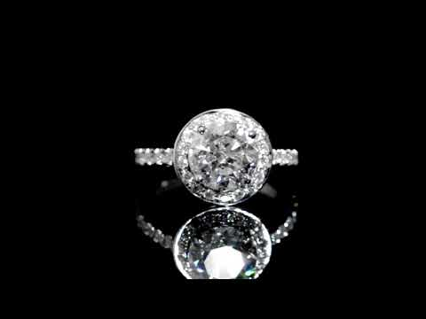 CGL Certified 2.57ct Round Brilliant Cut Canadian Diamond Ring