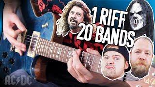 Video 1 Riff 20 Bands - Back In Black! | Pete Cottrell MP3, 3GP, MP4, WEBM, AVI, FLV Maret 2019