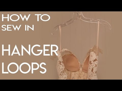 How to Sew in Hanger Loops, Hanging Loops, Bridal Gown (видео)