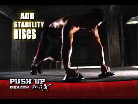Iron Gym Push Up Max Rotating Push Up Bars