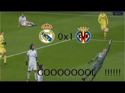 Golaço do Villarreal contra o Real Madrid em Pleno Santiago Bernabéu