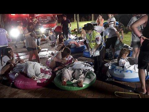 Ταϊβάν: Κόλαση φωτιάς σε πάρκο αναψυχής – Τουλάχιστον 472 τραυματίες