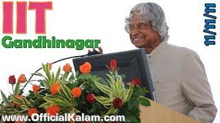 Dr APJ Abdul Kalam at IIT Gandhinagar on 11-11-11