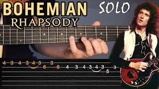 Como tocar el solo de BOHEMIAN RHAPSODY en guitarra acústica | Tablaturas TCDG