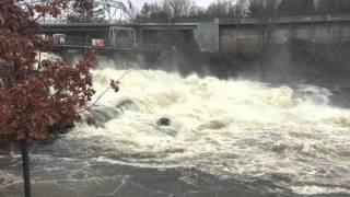 Day 2 of flooding in Bracebridge