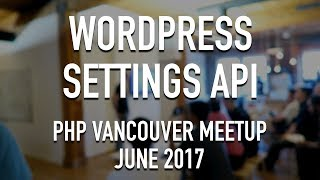 Presenting my OOP approach to the Settings API of WordPress.Recorded on June 2017 at the PHP Vancouver MeetUp.Download APWS: https://github.com/Alecaddd/awps:: Become a Patreon ::https://www.patreon.com/alecaddd:: Join the Forum ::https://forum.alecaddd.com/:: Support Me ::http://www.alecaddd.com/support-me/http://amzn.to/2pKvVWO:: Tutorial Series ::WordPress 101 - Create a theme from scratch: http://bit.ly/1RVHRLjWordPress Premium Theme Development: http://bit.ly/1UM80mRLearn SASS from Scratch: http://bit.ly/220yzmZDesign Factory: http://bit.ly/1X7CsazAffinity Designer: http://bit.ly/1X7CrDA:: My Website ::http://www.alecaddd.com/:: Follow me on ::Twitter: https://twitter.com/alecadddGoogle+: http://bit.ly/1Y7sunzFacebook: https://www.facebook.com/alecadddpage