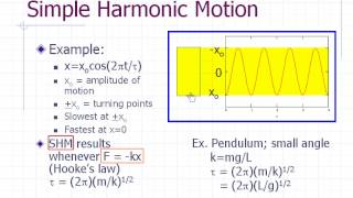 Physics Pre-lab Lecture: Simple Harmonic Motion
