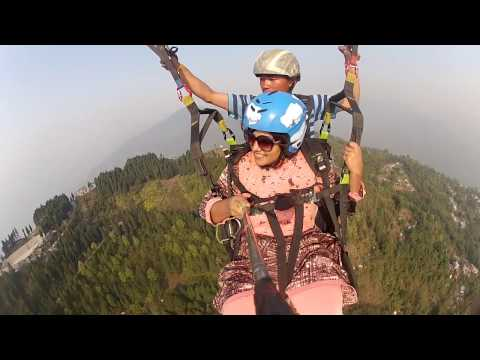First Time Paragliding Adventure - at Delo Hill, Kalimpong. Darjeeling, India