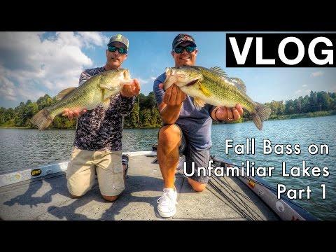 VLOG 9: Fishing for Fall Bass on Unfamiliar Lakes - PART 1_Horg�szat vide�k