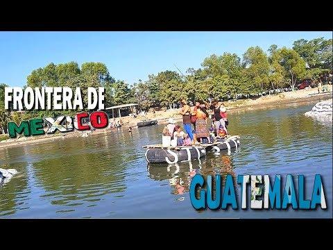 "CRUZANDO DE MOJADO A ""MEXICO""  En la FRONTERA Tecun Uman"