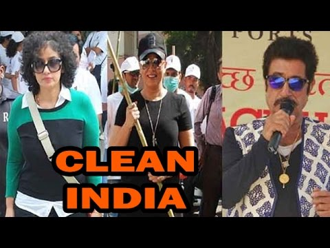 Shakti Kapoor, Manisha Koirala, Aditya Pancholi Support 'Clean India' ...