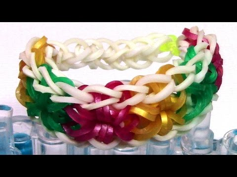 DIY Loom Bands Starburst Bracelet Tutorial – Make Easy Rainbow Bands Bracelet