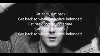Video Get back with lyrics (The Beatles) MP3, 3GP, MP4, WEBM, AVI, FLV Agustus 2018
