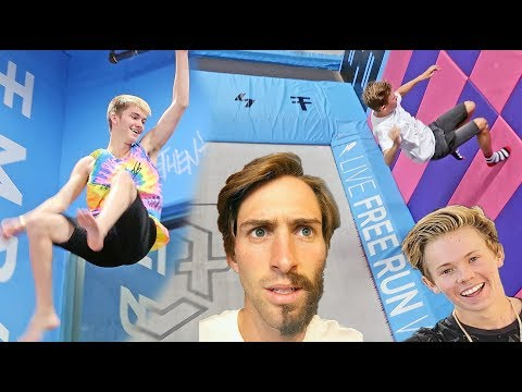 FAMOUS YOUTUBER TRAMPOLINE PARK SESSION *FLIPS AND TRICKS*