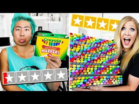 1 Star vs 5 Star Art Supplies with ZHC! - Challenge