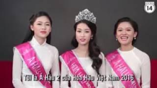 Top 3 Hoa hậu Việt Nam 2016 nói tiếng Anh