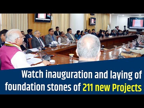 Embedded thumbnail for Watch inauguration and laying of foundation stones of 211 new Projects