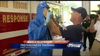 Emergency Responders Take Part In Special Ebola Training