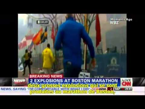 Video des deux explosions du marathon de Boston.