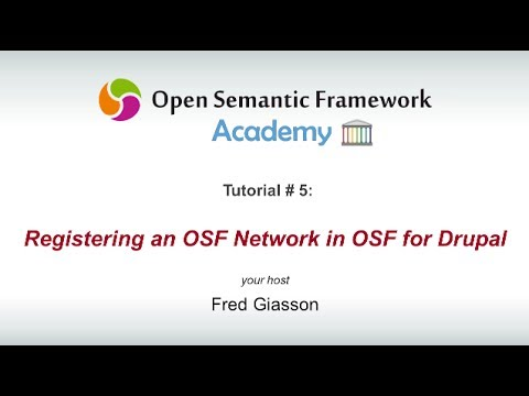 Registering an OSF Network in OSF for Drupal