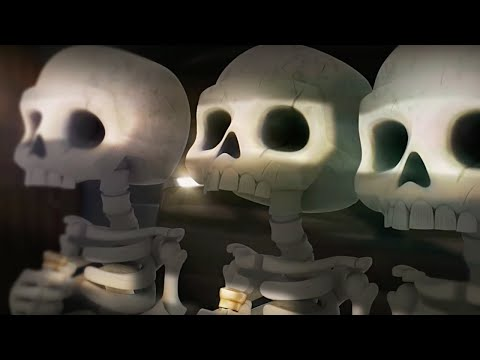 Clash Royale Official Skeleton Barrel on a Mission Trailer