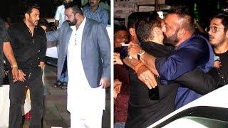 Video Salman Khan HUGS Sanjay Dutt & Ends FIGHT At His Diwali Party 2017 MP3, 3GP, MP4, WEBM, AVI, FLV Januari 2019