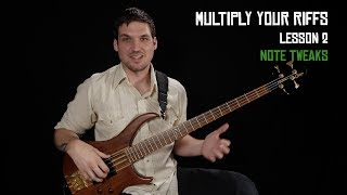 "BECOME A PATRON: http://patreon.com/joshfossgreenFREE PDF FOR THIS LESSON: http://joshfossgreen.com/?p=1654Woohoo! I'm so excited to welcome you to the Multiply Your Riffs series. I'm gonna show you a ton of ways you can expand your musical vocabulary starting from whatever you already know. Whether you're afraid of improvising, or you're getting ""stuck"" and stale with your soloing, these simple strategies will help you find new territory to explore on your journey to epic bass playing.I would guess that almost every high-level professional musician (especially improvisers) uses most or all of these strategies. My hope as you go through this series of six lessons is that you'll have a few ""wow I never thought to do that!"" lightbulb moments. Once you know these tools, you'll be able to use them to multiply everything you know many many times.I urge you to take what you learn in these bite-size lessons and apply it to your own favorite riffs, licks, fills, and bass lines. If you only learn the examples I use in the videos, you'll be missing out on most of the value from these lessons.Check out my complete step-by-step beginner course: http://joshfossgreen.com/b2bJosh Fossgreen is endorsed by TC Electronic and Hipshothttp://tcelectronic.com/http://www.hipshotproducts.com/"