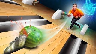 Video Table Saw Bowling Challenge! MP3, 3GP, MP4, WEBM, AVI, FLV Januari 2019