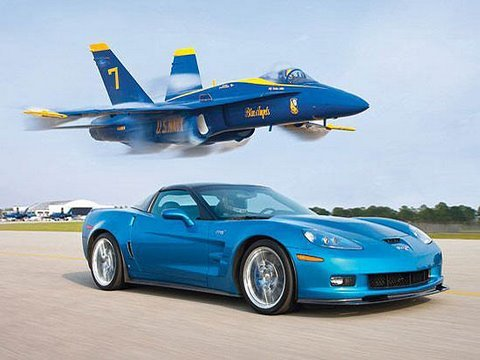 0 ZR1 Vette vs Jet!   Chevrolet Corvette ZR1 contra U.S. Navy Fighter Jet