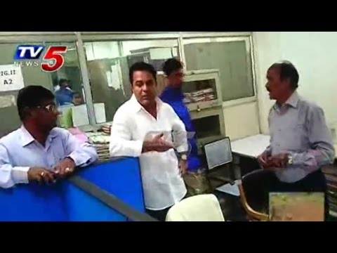 Minister KTR Serious On Secretariat Officers | Surprise Visit to T-Secretariat : TV5 News