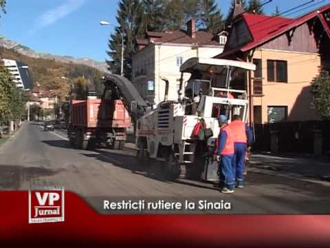 RESTRICTII RUTIERE LA SINAIA