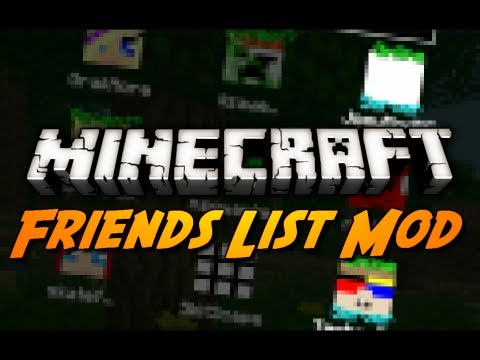 Minecraft Mod Review: FRIENDS OVERLAY MOD! (Add / Message Friends, Quick-Join Servers & More!)