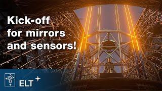 Componentes para o telescópio gigante
