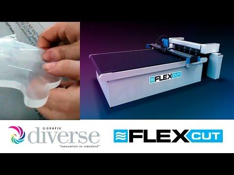 Diverse Grafix FlexCut: Shape cutting heavyweight acrylic sheet.