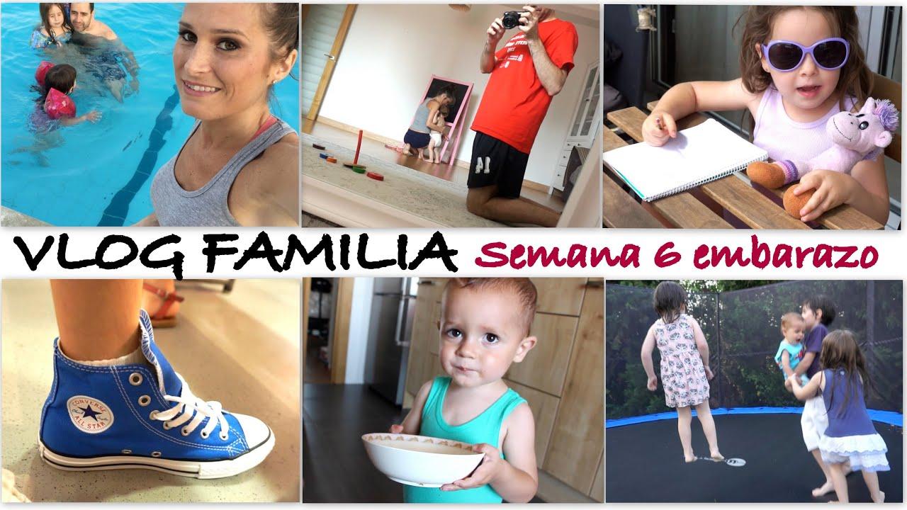 VLOG FAMILIAR semana 6 embarazo (PARTE 2)/ De concierto, rebajas y piscina