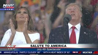 BLUE ANGELS FLY OVER: Following Trump's Speech at Salute to America event