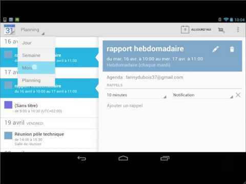 comment modifier contact android