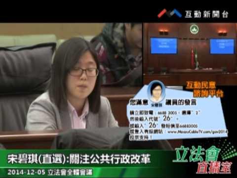 宋碧琪  20141205立法會全體會議