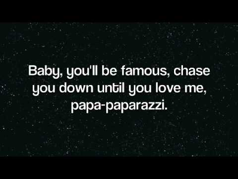 paparazzi - my first lyric videooo, :)
