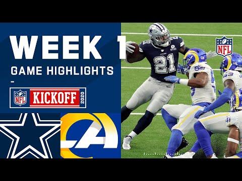 Cowboys vs. Rams Week 1 Highlights | NFL 2020