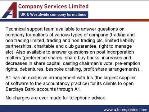 UK Company Formation & Registration Services - A1 Companies