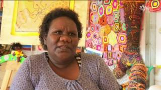 Aurukun artist Georgina Keppel began painting just two months ago, in a bid to overcome her grief following her father's death.