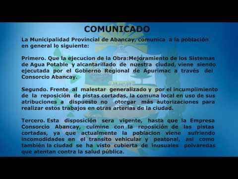 COMUNICADO CONSORCIO ABANCAY