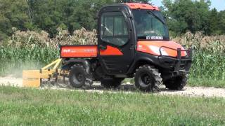 7. UTV Hitchworks - The Farmboy using a box blade on the Kubota RTV 1100