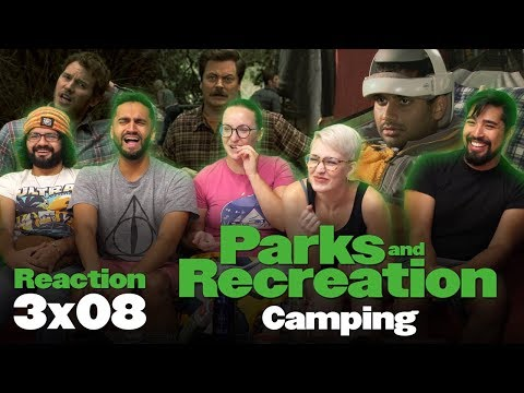 Parks and Recreation - 3x8 Camping  - Group Reaction