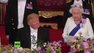Captan a Trump 'DURMIÉNDOSE' durante el DISCURSO de Isabel II