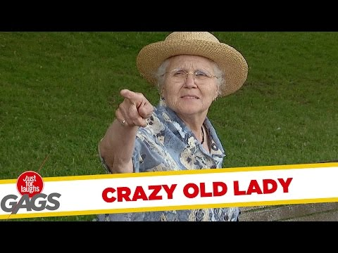 Crazy Old Lady Pranks
