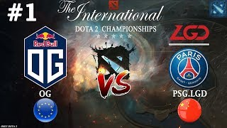 Битва ТОПов за СЛОТ в ФИНАЛЕ | OG vs PSG.LGD #1 (BO3) | The International 2018