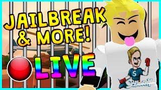 • JAILBREAK MADNESS!? | ROBLOX LIVESTREAM | COME HANG OUT!