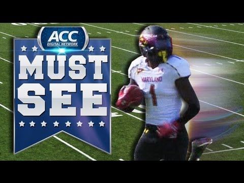 Stefon Diggs 103-yard kickoff touchdown vs Virginia 2012 video.